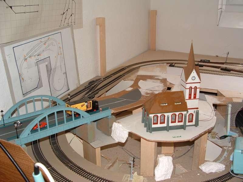 h0 anlage in u form modelleisenbahn modellbau community. Black Bedroom Furniture Sets. Home Design Ideas