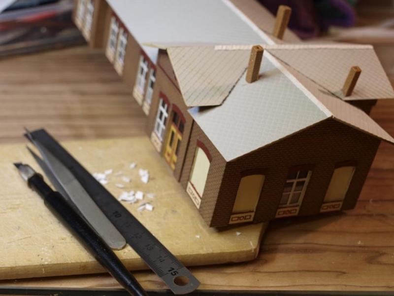 empfangsgeb ude sandersleben diorama modellbau community. Black Bedroom Furniture Sets. Home Design Ideas