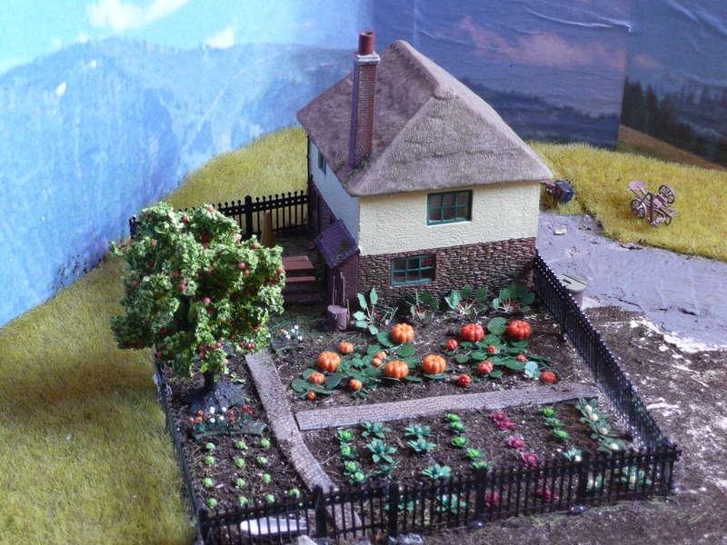 bauernhaus mit garten diorama modellbau community dioramen bauen. Black Bedroom Furniture Sets. Home Design Ideas
