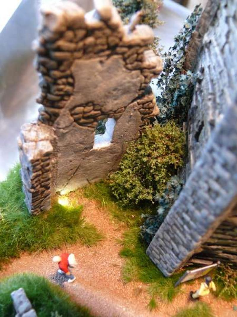 Diorama: Burgruine Arnstein Diorama - Modellbau Community