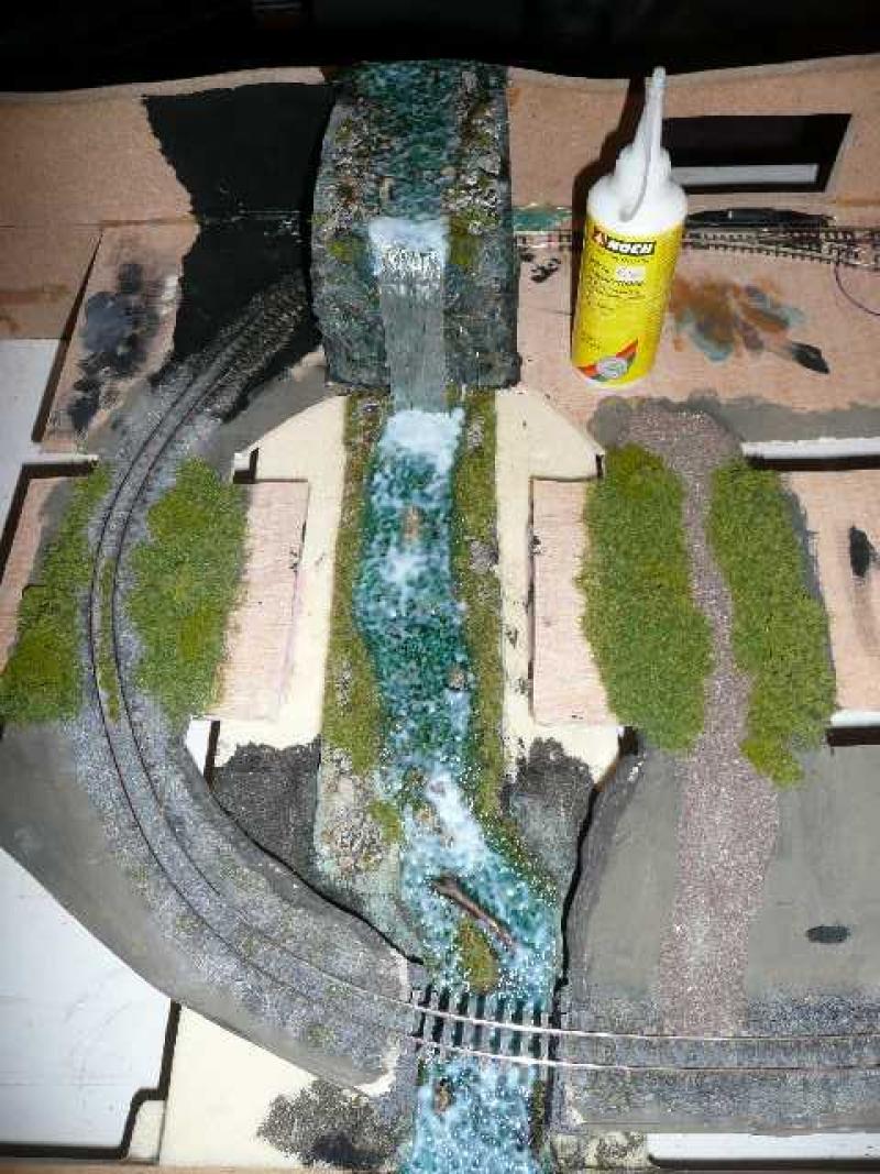 bachlauf mit wasserfall diorama modellbau community